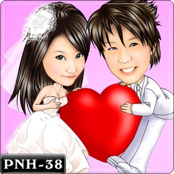 情侶雙人Q版漫畫-PNH-38